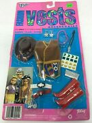 Totsy Barbie Flair Sandi Doll Vintage 80and039s Western Vests Hats Boot Accessory Kit
