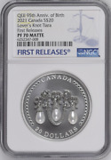 Majesty Queen Elizabeth Lovers Knot Tiara 2021 Canada 20 Silver Coin Ngc 70 Fr