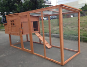 Large 95 Deluxe Solid Wood Hen Chicken Cage House Coop Huge For 4-6 Chickens