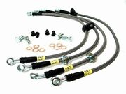 Stainless Steel Braided Front+rear Brake Lines For 07+ Toyota Tundra - Stoptech