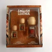 Vintage English Leather Gift Set - One 3.4 Oz + Two 0.6 Oz Bottles Of Cologne