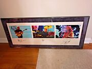 Rush Rock In Rio Macnaughtan Framed Print_numbered/autographed By All 3_peart
