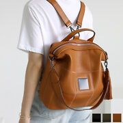 Convertible Casual Tylor Backpack School Travel Tote Bag Premium Cowhide Leather