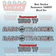 Bass Tracker Tournament 1600tf Boat Reproduction 4 Piece Marine Vinyl Decals