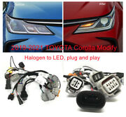 Adapter Wire Harness 2019-2021 Toyota Corolla Headlight Modified Halogen To Led