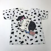 Vintage 90and039s Walt Disney 101 Dalmations T Shirt All Over Print Youth 10-12