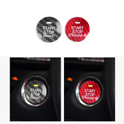 Carbon Fibre Car Engine Start Button Cover Stop Switch Accessories For Mazda