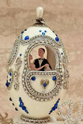 Bride Groom Wedding Day Gift From Parent Faberge Egg And Necklace Bracelet 1only
