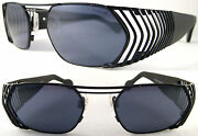 Rare And Vintage Hollywood Style Unisex Sunglasses Metal / Black - Limited Edition