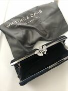 Whiting And Davis Crystal Flower Clutch Nwt Msrp 225.00