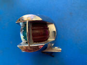 Vintage Perko Chrome Boat Navigation Bow Red Light Green A-16-81 Bn9
