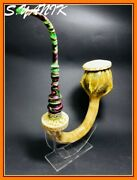 S.yanik Meerschaum Pipe New Giant Gourd Calabash Silver Ring Square Case