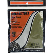 Turf 18 To 25.2 Cubic Inches-light Green - Coarse, Pk 3, Woodland Scenics