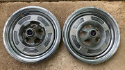 Lot Of 2 1964-65 Plymouth Barracuda Valiant Wheel Covers 13andrdquo Pair