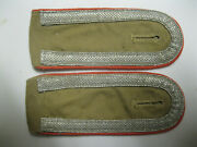 Rare Hg Div Panzer Tropical Shoulder Boards. Pink Piped.