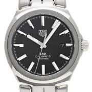 Free Shipping Pre-owned Tag Heuer Link Caliber 5 Wbc2110.ba0603 Self-winding