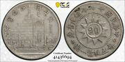 1928 China Fukien Twenty 20 Cents Pcgs Xf 40 Lm 850 Witter Coin