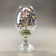 Franklin Mint House Of Faberge The Violet Bouquet Austria Crystal Egg 6andrdquo H