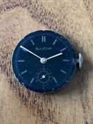Vintage Military Bulova Watch 15j Movement Dial And Hands For Parts Or Repair