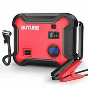 Car Jump Starter With Air Compressor Auto Battery Booster Emergency Light