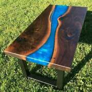 Premium Epoxy Resin Dining And Coffee Table Top Handcrafted Live Edge Custom Made