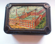 Cws Crumpsall Works Factory Biscuits Sample Tin 1906s Vintage Retro Food