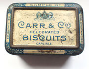 Carr And Co Biscuits Sample Tin Toy 1890s Vintage Retro Food Royal Appointment