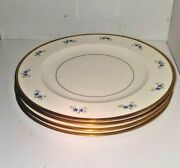 Starflower By Kirk Salad Plates Set Of 4 8 1/2 Excellent