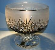 Xl Caesar Crystal Footed Bowl Black Hand Cut To Clear Overlay Czech Cased Foot