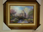 Thomas Kinkade A New Day At Cinderella Castle 18x24 S/n Signed