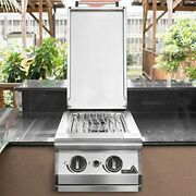 Pgs Natural Gas Double Side Burner - Built-in