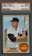 1968 Topps Mickey Mantle 280 Psa 8 High End