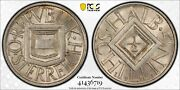1926 Austria One Half 1/2 Schilling Pcgs Ms 64 Witter Coin