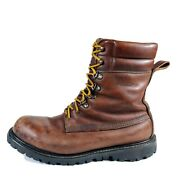 Vintage Cabelas Hunting Boots 10 D Brown Leather Insulated Waterproof Boots Usa