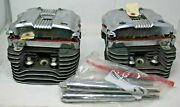 2006 Harley Davidson Sportster Xl 883 Chrome Left Right Engine Head Heads Covers