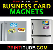 500 Customized Magnets Business Cards Full Color Business Card Magnet 2x3.5