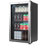 Vremi Beverage Refrigerator And Cooler 120 Can Mini Fridge For Soda Beer Or Wine