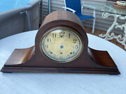 Antique Sessions Mantel Shelf Clock Westminster Chimes For Parts Or Restoration