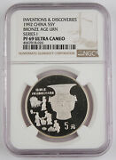 China 1992 Silver Proof Coin Seismograph Ngc Pf69 Discovery Invention Series I