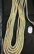 Aaa+ Natural Ethiopian Opal Smooth 5-8 Mm Rondelle Stone Beads 22 Necklace