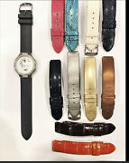 Phillip Stein Ladies Diamond Watch Changeable Bands Included W/box Cards