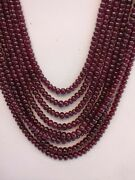 Best Quality 18 Natural African Ruby Gf Smooth 4-6 Mm Rondelle Beads Necklace