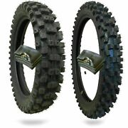 Wig Racing Motocross Tires 110/90-19 And 80/100-21 With Inner Tubes Combo