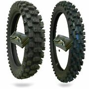 Wig Racing Motocross Tires 110/100/18 And 80/100-21 With Inner Tubes Combo