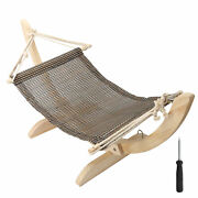 Pet Cats Wooden Hammock Suspension Mesh Bed Wood Frame Sleeping Bed Supply