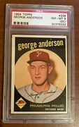 1959 George Sparky Anderson Psa 8 Oc Rookie Card
