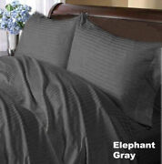 Cushy Bedding Duvet Collection Gray Striped 1000tc Egyptian Cotton All Us Size