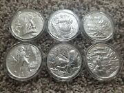 Six Privateer Series 2 Oz Rounds 999 - Fine Silver Pirate Series Rare Capsules
