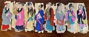 Antique Set Of Seven Republican Chinese Fabric Puppets Circa 1911
