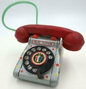 Vintage Japanese Tin Toy Police Telephone Red Handset